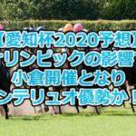 【愛知杯2020予想】オリンピックの影響で小倉開催となりセンテリュオ優勢か!?