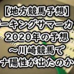 【地方競馬予想】スパーキングサマーカップ2020年の予想~川崎競馬でコロナ陽性が出たのか?~