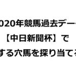 2020年競馬過去データ 【中日新聞杯】で激走する穴馬を探り当てる!!