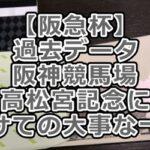 【阪急杯】過去データ~阪神競馬場~高松宮記念に向けての大事な一戦