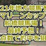 【2021年地方競馬予想】マリーンカップ/船橋競馬場!最終予想!少点数で的中を狙う