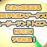 先週の競馬結果【阪神牝馬ステークス】【ニュージーランドトロフィー】【桜花賞】予想結果!