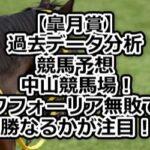 【皐月賞】過去データ分析/競馬予想/中山競馬場!エフフォーリア無敗での優勝なるかが注目!?