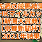 先週の競馬結果【NHKマイルカップ】【新潟大賞典】【京都新聞杯】2021年結果