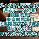 【ヴィクトリアマイル】過去データ分析/競馬予想/東京競馬場!牝馬限定マイル戦を制するのはグランアレグリアか!?