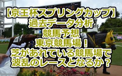 【京王杯スプリングカップ】過去データ分析/競馬予想/東京競馬場!芝があれている競馬場で波乱のレースとなるか?