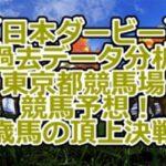 【日本ダービー】過去データ分析/東京都競馬場/競馬予想!3歳馬の頂上決戦!